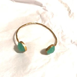 Like 🆕 gold Anthropologie bangle with jade stones